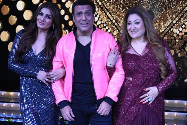 govinda with raveena tondon and wife sunita ahuja