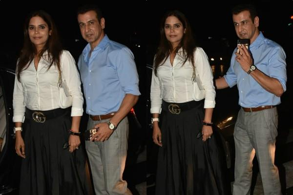 ronit roy spotted at dinner date with wife neelam roy