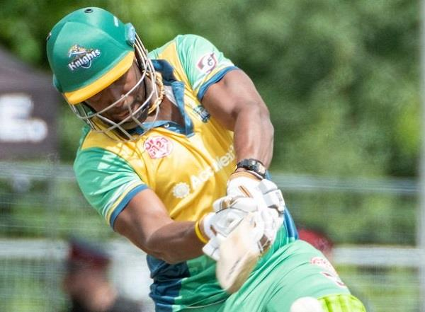 russell scored 46 off 18 balls to reach super over but lost gt20 canada finals
