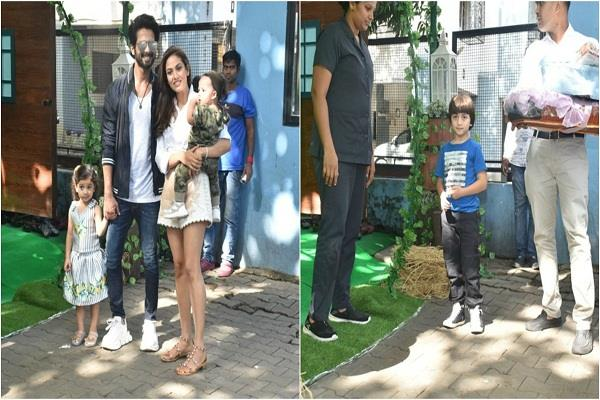 shahrukh s younger son arrived in shahid daughter birthday with lot of gifts