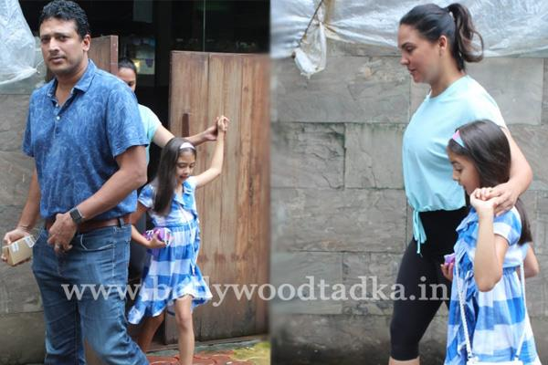 lara datta spotted with family at indigo in mumbai