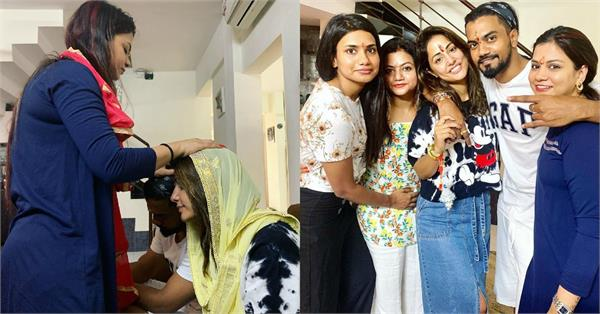 hina khan pre rakhi celebration with boyfriend rocky jaiswal sisters
