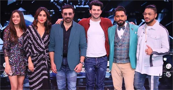 sunny deol with son karan deol at dance india dance