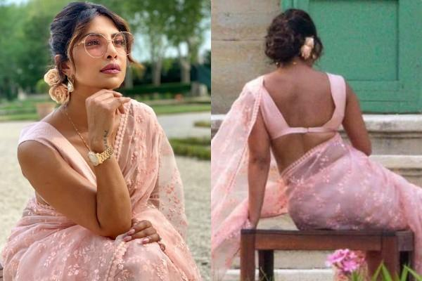 priyanka chopra saree look