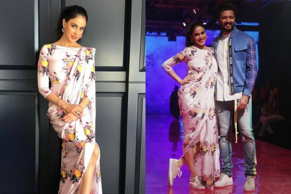 riteish deshmukh and genelia dsouza swag look at lakme fashion week 2019