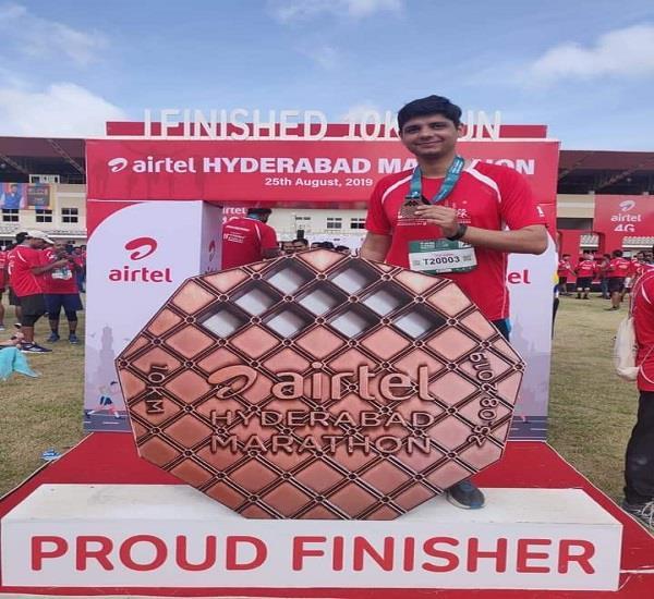 ias ashish sangwan participated in hyderabad marathon race