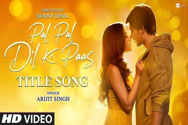 pal pal dil ke paas title song released watch karan and sahher chemistry
