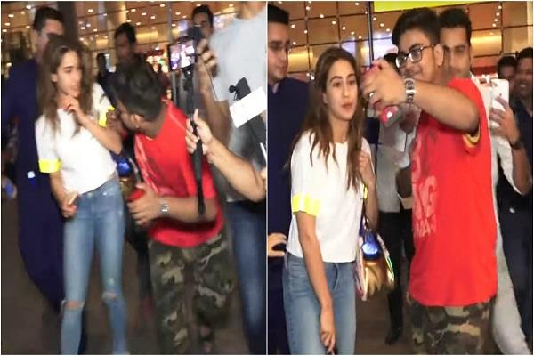 the boy ran away from mp shown in the viral video of sara ali khan