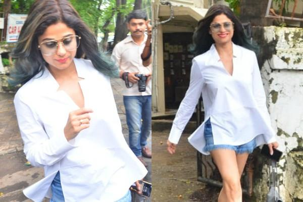 shamita shetty spotted outside saloon