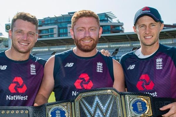 england cricket team receive customised wwe belt