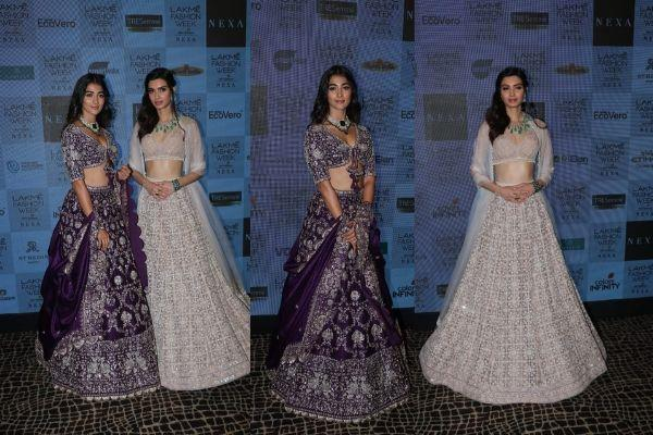 pooja hegde and dayna fashion show