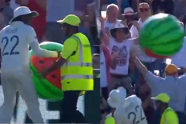 jofra archer return plastic ball to his fans video viral on internet