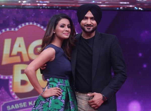 geeta and harbhajan singh in shilpa shetty latest show lgao boli set