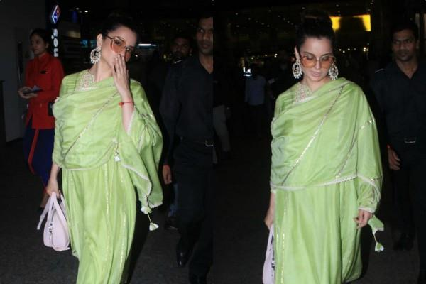 kangana ranaut looks pretty as she spotted at mumbai airport