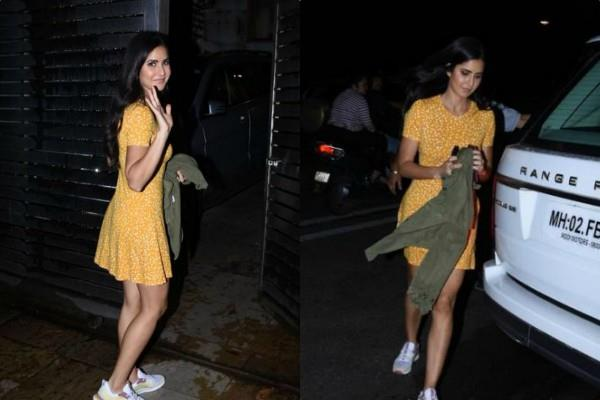 katrina kaif look cute as she spotted outside zoya akhtar house