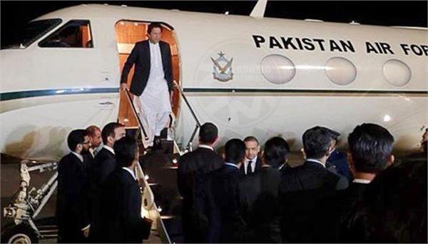 pm imran s plane makes emergency landing in new york