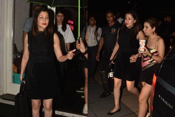aditi govitrikar spotted outside the restaurant in mumbai