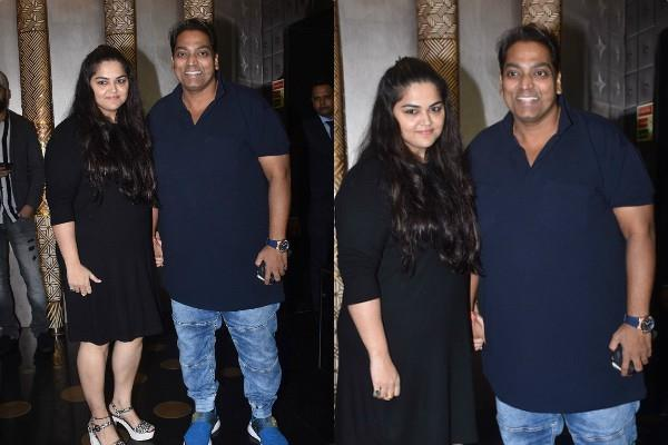 choreographer ganesh acharya with wife vidhi at raj sandliya birthday bash