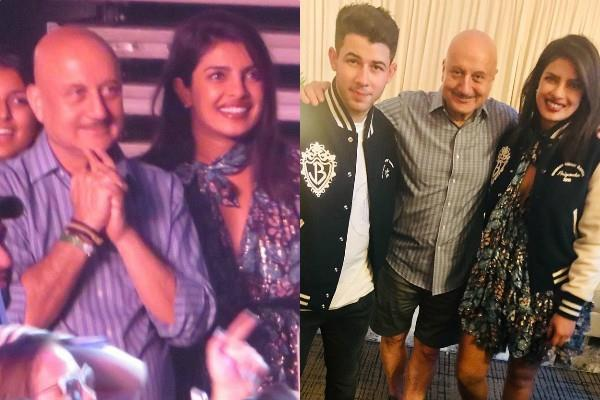 anupam kher enjoy jonas brother concert in new york