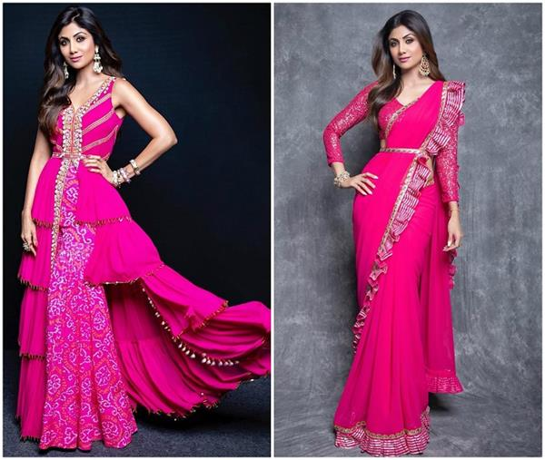 try 7 hot pink dresses by shilpa