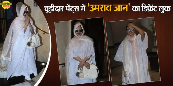 rekha spotted outside the manish malhotra store