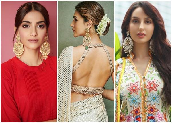 oversized earrings designs for festive season