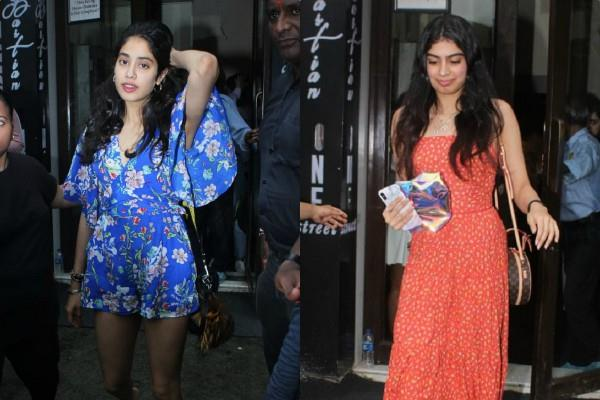 jahnvi kapoor lunch date with khushi kapoor