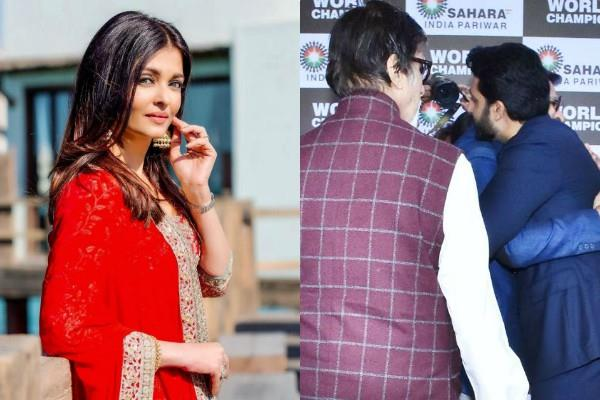 aishwarya rai upset with abhishek bachchan for hugging vivek oberoi at an event
