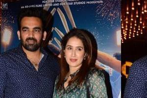 sagarika ghatge attend screening with cricketer husband zaheer khan