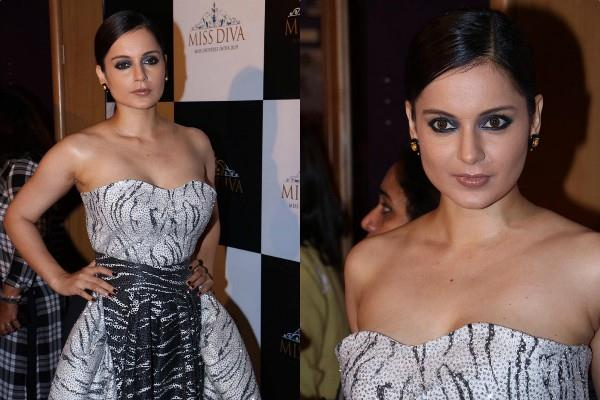 kangana ranaut latest pictures in off shoulder gown