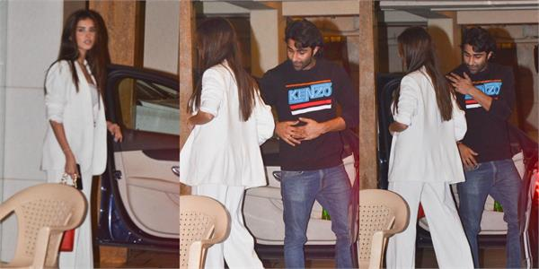 tara sutaria aadar jain spotted outside the kareena kapoor house