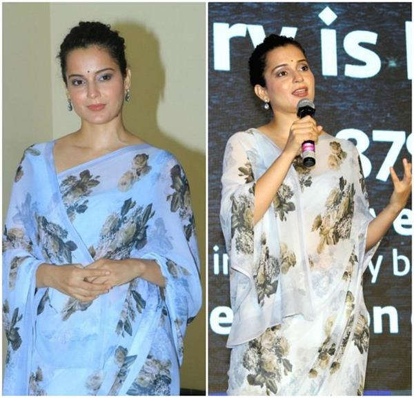 kangna s special sari for campaign know what was the reason