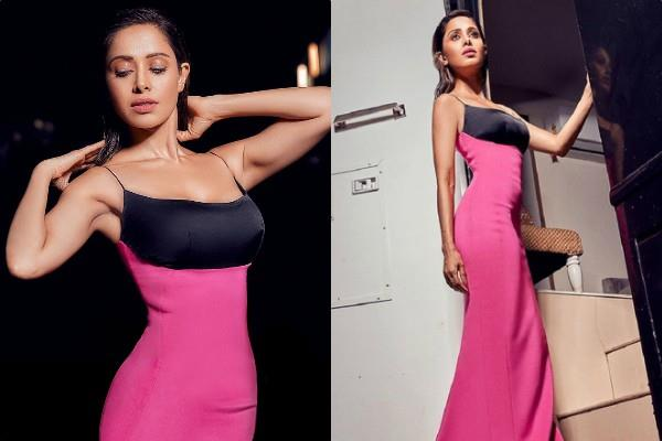 nushrat bharucha perfect figure in skin fit gown