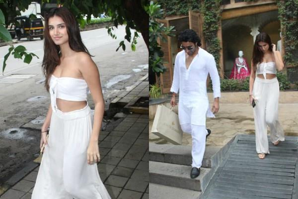 tara sutaria and aadar jain spotted outside clothes store