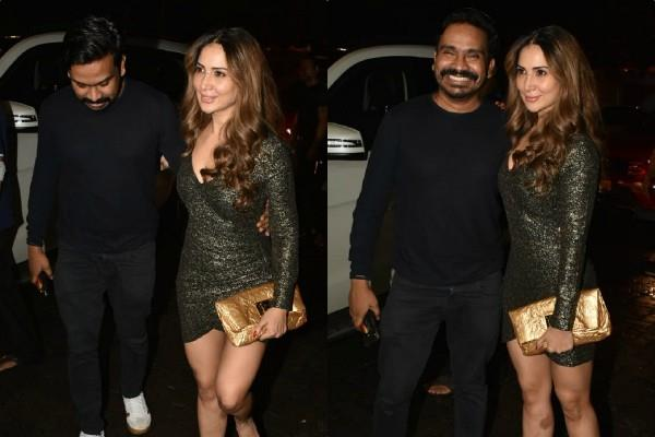 kim sharma attend dino moria party with mushtaq sheikh