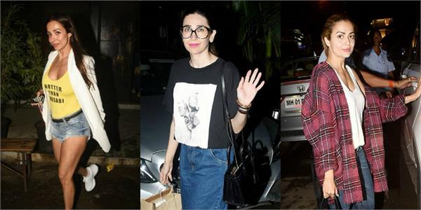 karisma kapoor hang out with malaika arora and amrita arora