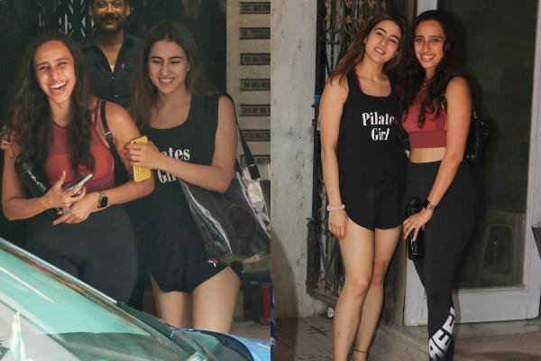 sara ali khan spotted outside gym with fitness trainer