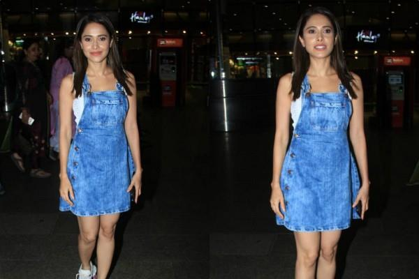 nushrat bharucha look stunning at airport as she returns from new delhi