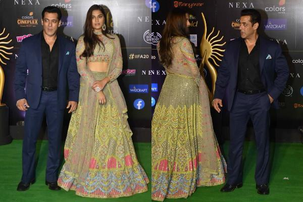 salman khan spotted with mahesh manjrekar daughter at iifa 2019 award function