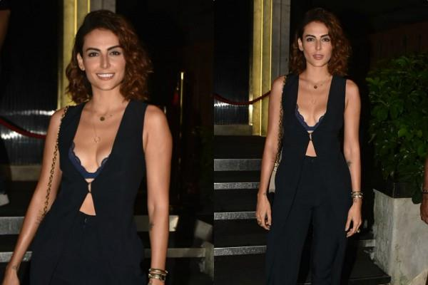 mandana karimi attend dino morea party in bold look