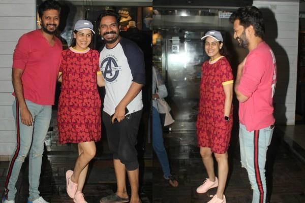 genelia d souza with hubby riteish deshmukh see pictures