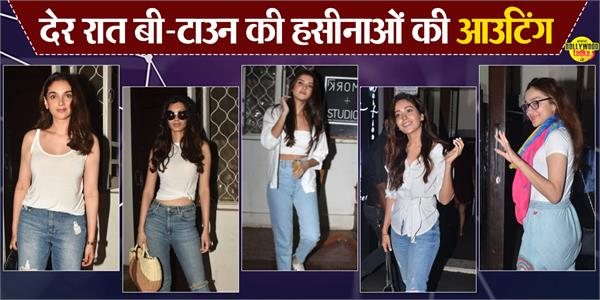 asha negi alfia jaffery tara sutaria and other stars spotted at mumbai