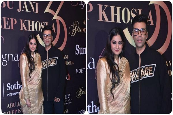 anil kapoor s younger daughter appeared with karan johar