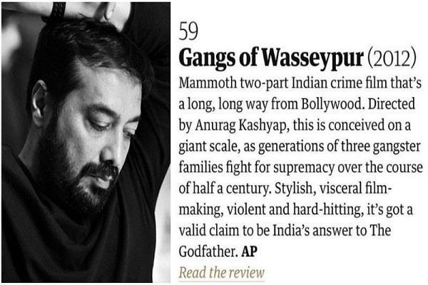 gangs of wasseypur only indian film in the guardian s best 100 films list