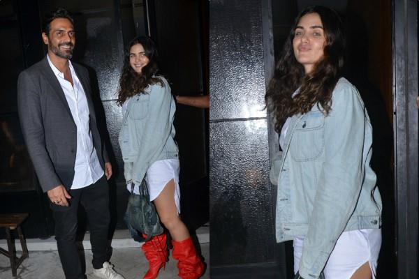 arjun rampal and girlfriend gabriella demetriades spotted at dinner date