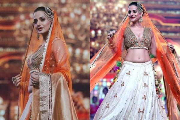 amisha patel in bridal look at iifa rocks 2019 green carpet