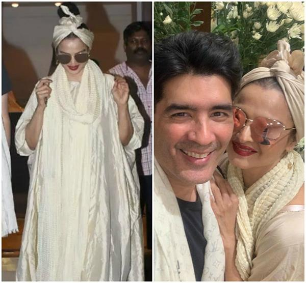 rekha spotted outside manish malhotra store here users reaction
