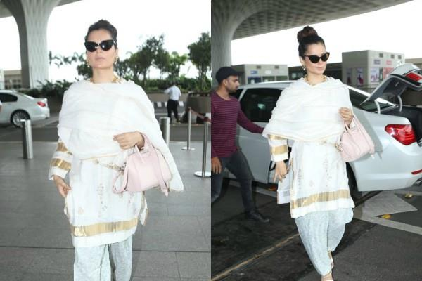 kangana ranaut spotted at airport