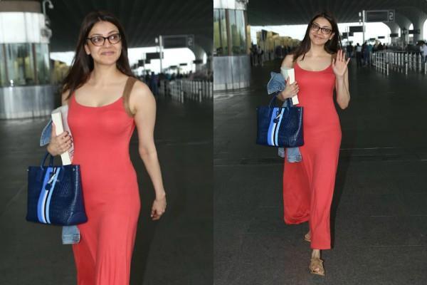 kajal aggarwal no makeup look spotted at airport