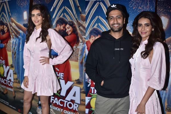 karishma tanna and kamli aka vicky kaushal cute bonding at screening
